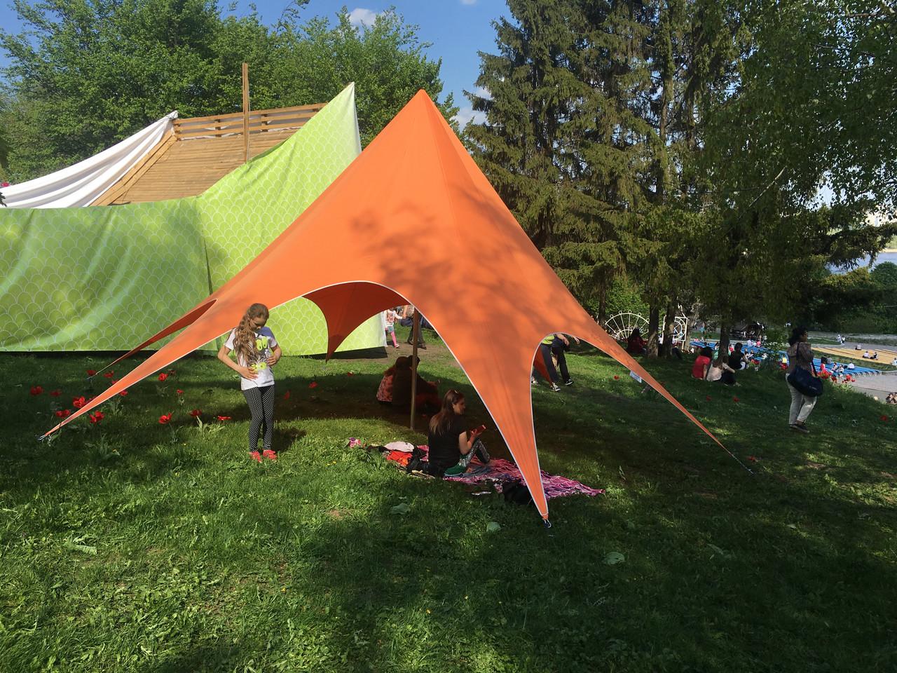 Палатка детская  оранжевая, 8 метровая Звезда
