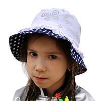 Летняя шляпка панамка для девочки.Догги.