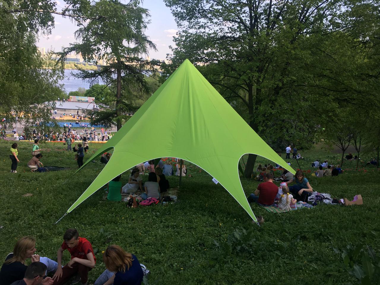 Палатка детская зеленая, 8 метровая Звезда