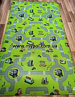 Детский коврик  Дороги теплый 2*1,1 м толщина 8 мм