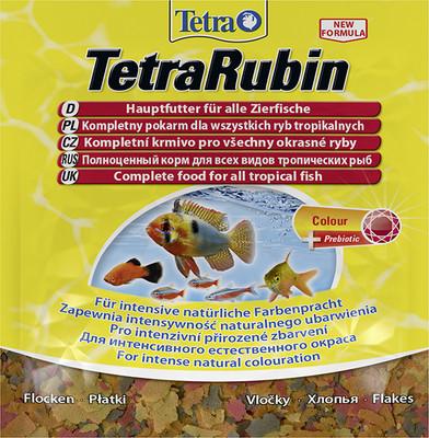 Корм для всех видов рыб TetraRubin 12 гр хлопья для усиления окраса рыб