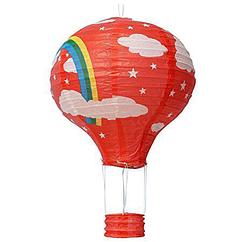 """Бумажный декор для праздника """"Воздушный шар"""" красный + радуга"""