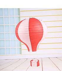 """Бумажный декор для праздника """"Воздушный шар"""" красный с белым"""