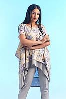 Костюм женскийудлинённой кофтой (3 цвета) -Бежевый IS/-696