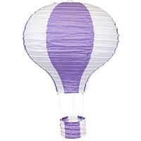 """Бумажный декор для праздника """" Воздушный шар"""", фиолетовый+белый"""