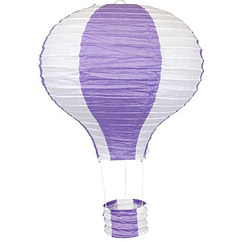 """Бумажный декор для праздника """"Воздушный шар"""" фиолетовый с белым"""