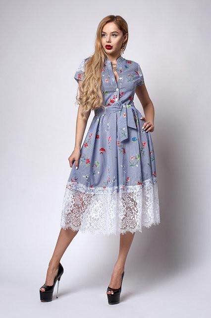 d1333daa934b996 Хлопковое платье-рубашка с кружевом: продажа, цена в Хмельницком ...