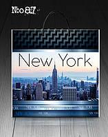 """Пакет с пластиковой ручкой 36х37 10шт. """"New York"""""""