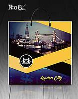 """Пакет с пластиковой ручкой 40х40 10шт. """"London city"""""""