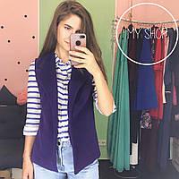 Женская кашемировая жилетка фиолетовая