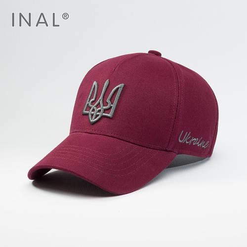 Кепка бейсболка, Ukraine, L / 57-58 RU, Хлопок, Бордовый, Inal