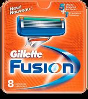 8 шт\уп.-Сменные кассеты  GILLETTE FUSION (жилет фьюжен) 5 ЛЕЗВИЙ картриджи, лезвия для бритья. Германия. ОРИГИНАЛ !