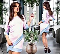 Платье с отделкой в расцветках  32535