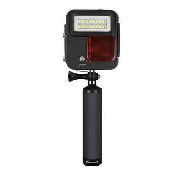 Металлический водонепроницаемый бокс с LED светом для экшн камер GoPro Hero 4, 5, 6, 7  (код № XTGP435)