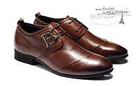 Мужские кожаные туфли классика 2 цвета