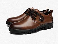 Кожаные качественные ботинки 2 цвета, фото 1