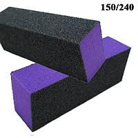Баф Шлифовочный 4-х стороний Профессиональный Черно Фиолетовый на Пенообразной Основе Упаковкой