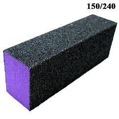 Баф Шлифовочный 4-х стороний Профессиональный Черно Фиолетовый на Пенообразной Основе Поштучно