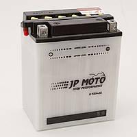 Аккумулятор мотоциклетный JP Moto 14Ah-12v CB14-A2 (YB14-A2) , 12В, 14Ач, EN185А