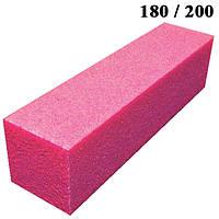 Бафик Тёмно Розовый на Пенообразной Основе для Гель-Лаков и Шлифовки