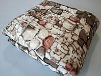Микрофибровая простынь, покрывало TRUE LOVE полуторное Камни коричневые