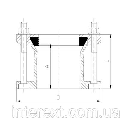 Адаптор фланцевый универсальный Ду250 (272-289), фото 2