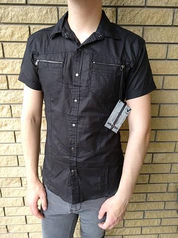 Рубашка мужская летняя коттоновая брендовая WEAWER JEANS, фото 2