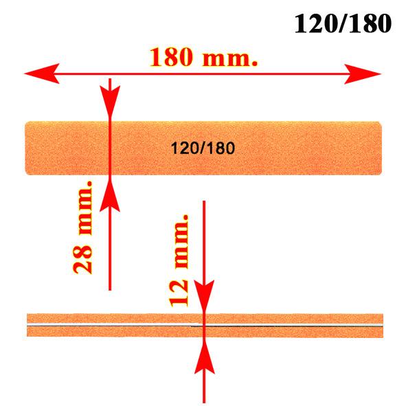 Пилка Баф для натуральних і штучних і натуральних нігтів 120 * 180 грітті, оптом і в роздріб від Компанії Маргарита Дніпро,в інтернет магазині opt21.com.