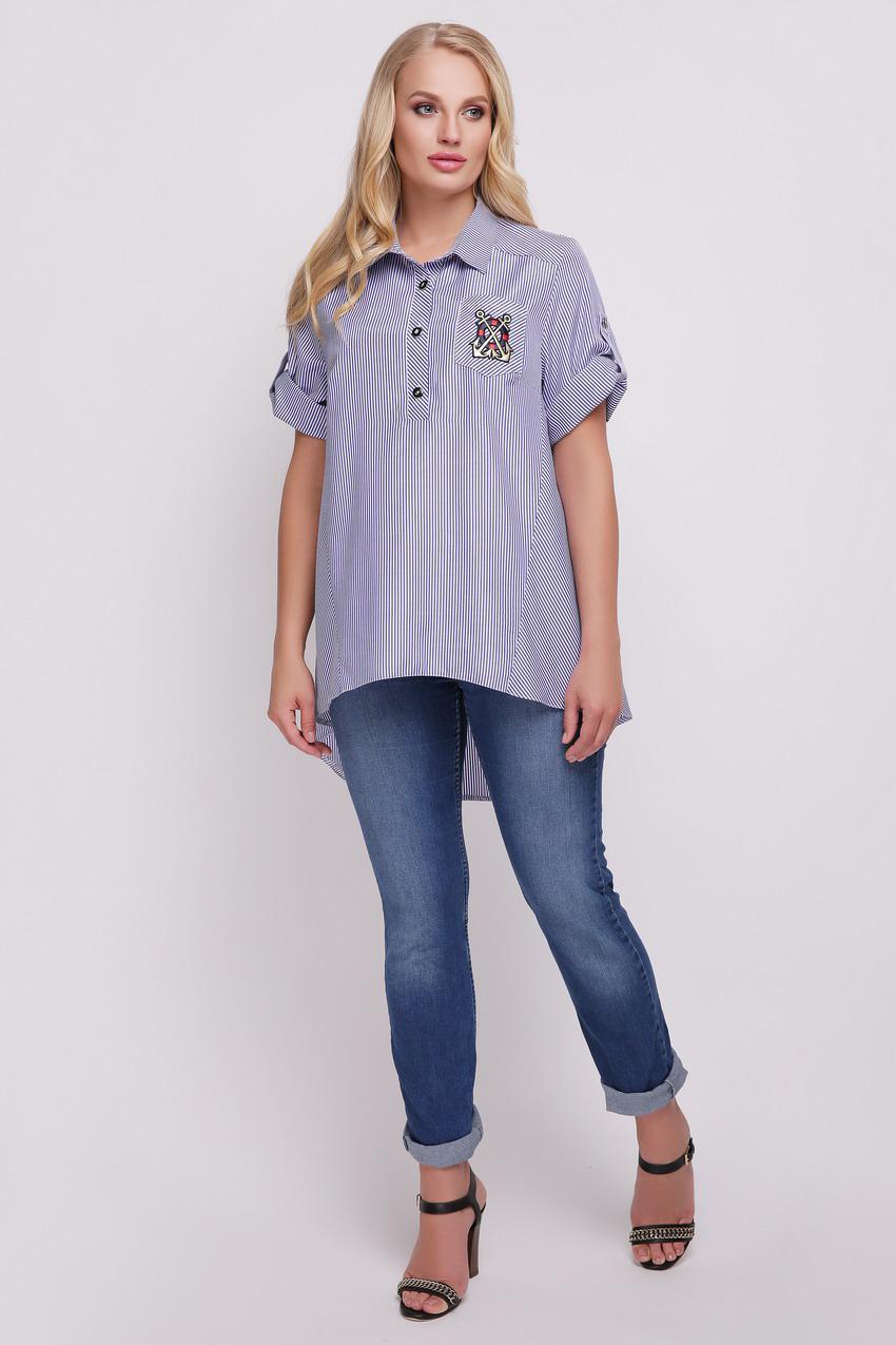 077fd3e4c22 Рубашка большого размера Ангелина полоска