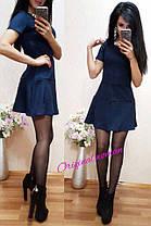 Платье притал к низу клёш короткий рукавчик, фото 2