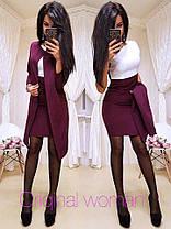 Костюм  элегантный двойка платье и пиджаккостюмка, фото 2