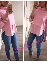 Блуза с воротником ткань креп шифон, фото 2