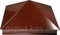 Колпак на кирпичный столбик любой размер Матовый полиэстр