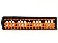 Счеты абакус соробан с оранжевыми косточками ментальная арифметика стержни 17 рядов 25*6*1,4см