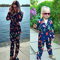 Костюм для мамы и дочки Family Look Фемили Лук
