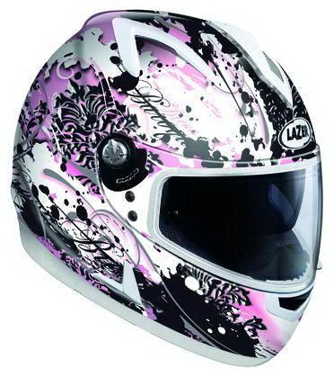 Шлем LAZER BREVA BAROQUE (р.XS) бело-розовый