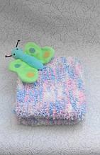 Детское вязанное полотенце Бабочка
