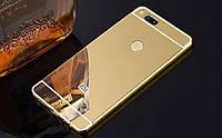Чехол зеркальный Xiaomi  Mi A1, рамка алюминий, зеркало акрил