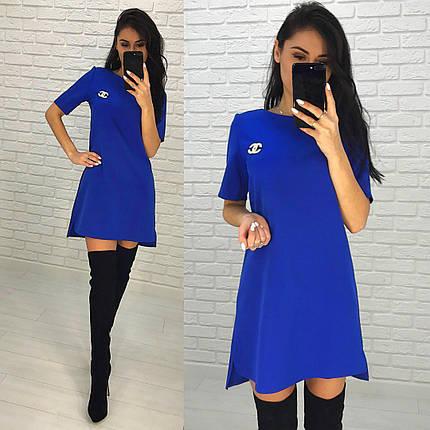 Платье разлетайка с брошью сзади удлинённое люкс, фото 2