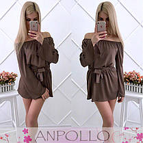 Комбинезоншелковый юбка-шорты плечи открытые, фото 3