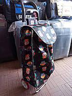 Хозяйственная сумка-тележка на силиконовых колесах