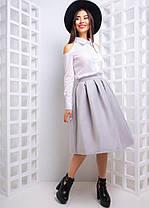 Костюм рубашка и юбка колокольчик хлопок кашемир, фото 2