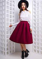 Костюм рубашка и юбка колокольчик хлопок кашемир, фото 3