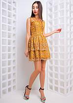 Платье кружевное мини с двойной юбочкой, фото 3