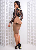Костюм юбка с баской и топ французское кружево, фото 2