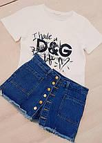 Юбка шорты джинсовые с бахромой на пуговицах, фото 3