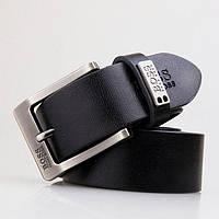 02b5b02d17bb Ремень кожаный мужской Hugo Boss черный с классической пряжкой