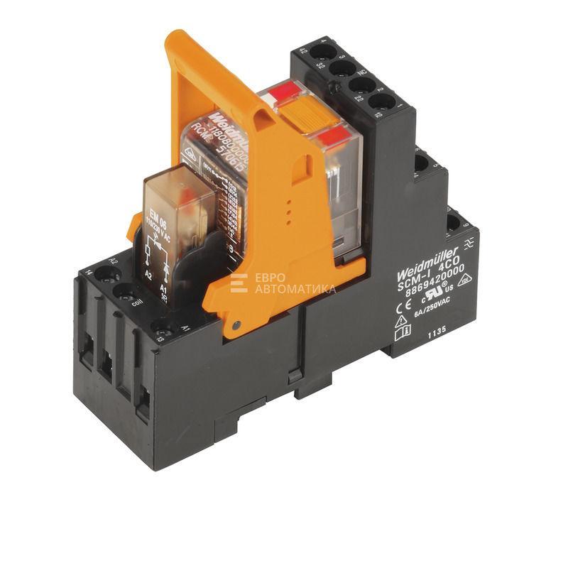 Релейный модуль Weidmuller RCMKIT-I 230VAC 4CO LD - 8921060000