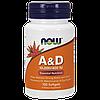 Витаминно-минеральный комплекс NOW A&D (100 порций) (100 капс)