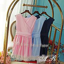 Платье двустороннее с бантом и двойным воланом, фото 2